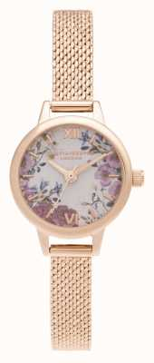 Olivia Burton Pulsera mini blooms mini dial de oro rosa OB16EG156