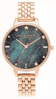 Olivia Burton Pulsera Northern lights demi dial de oro rosa OB16GD66