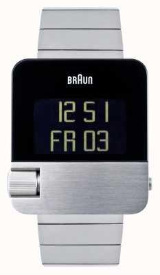 Braun Hombres | prestigio | digital | pulsera de acero inoxidable BN0106SLBTG