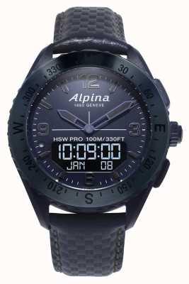 Alpinarx | edición espacial | reloj inteligente | correa de cuero azul AL-283SEN5NAQ6