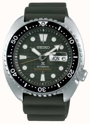 Seiko Prospex caballeros mecánicos | correa de caucho caqui | esfera de color caqui SRPE05K1