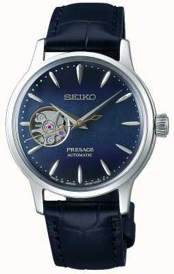 Seiko | presagiar damas mecánicas | piel de becerro azul | esfera azul SSA785J1