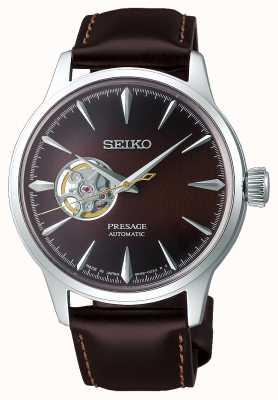 Seiko El   presagio damas mecánicas   piel de becerro marrón   esfera marrón SSA783J1