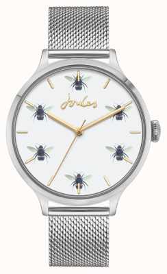 Joules Mujeres | malla de acero inoxidable | esfera de abeja blanca JSL030SM