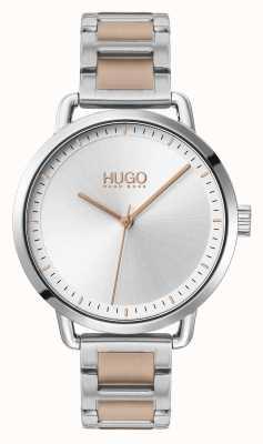 HUGO #mellow | pulsera de acero en dos tonos | esfera plateada | 1540057