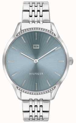 Tommy Hilfiger Gris | pulsera de acero inoxidable | esfera azul | 1782210