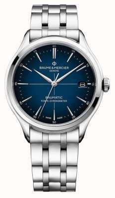 Baume & Mercier El | clifton baumatic | pulsera de acero inoxidable | esfera azul | M0A10468