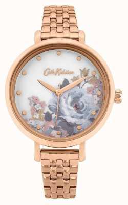 Cath Kidston | somerset para mujeres | pulsera chapada en oro rosa | esfera floral CKL087RGM