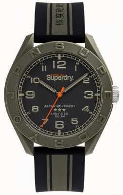 Superdry El | osaka | correa de caucho negro / caqui | esfera negra | SYG305NB