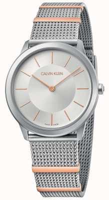 Calvin Klein El | mínimo | pulsera de malla de acero | esfera plateada | 35mm K3M521Y6