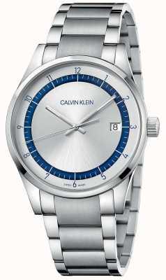 Calvin Klein El | finalización | pulsera de plata de acero inoxidable | esfera plateada KAM21146