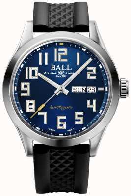 Ball Watch Company Ingeniero iii luz de las estrellas | correa de caucho negro | esfera azul | NM2182C-P12-BE1