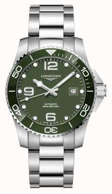Longines Hydroconquest 41mm automático | esfera verde | acero inoxidable L37814066