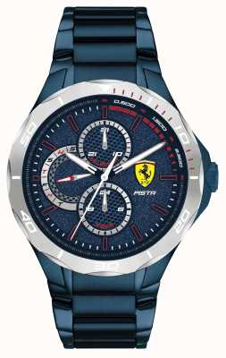 Scuderia Ferrari El | pista masculina | pulsera de acero azul con baño de iones | esfera azul 0830759