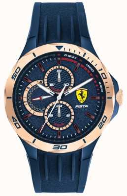 Scuderia Ferrari El | pista masculina | correa de caucho azul | esfera azul | 0830724