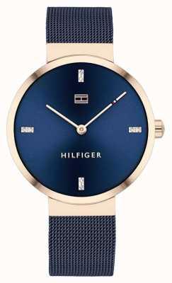 Tommy Hilfiger Libertad | pulsera de malla azul | esfera azul | 1782219