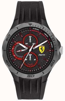 Scuderia Ferrari El | pista masculina | correa de caucho negro | esfera negra 0830725
