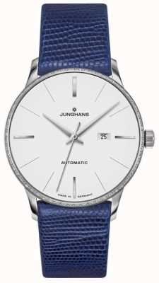 Junghans Meister Ladies cuero azul automático 027/4046.00
