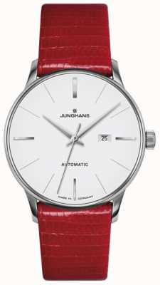 Junghans Meister damas cuero rojo automático 027/4044.00