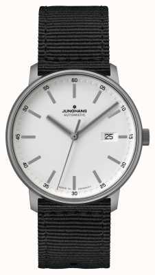 Junghans Forma un | titán | automático | correa nato negra | esfera blanca 027/2000.00