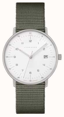 Junghans Max bill damen | correa de nylon gris | esfera blanca 047/4051.04