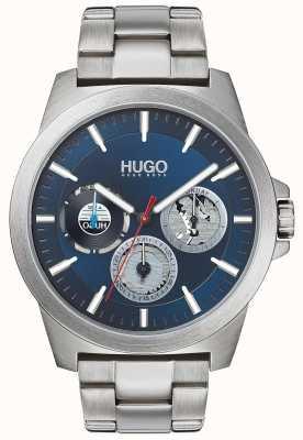 HUGO #twist | pulsera de acero inoxidable | esfera azul 1530131
