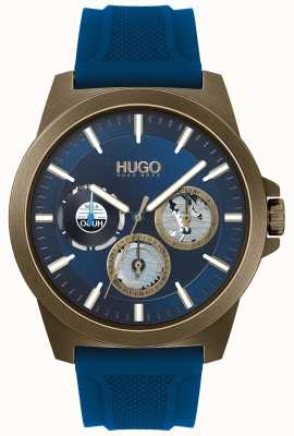 HUGO #twist | correa de caucho azul | esfera azul 1530130