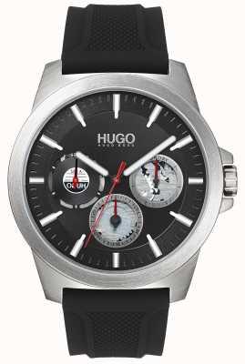 HUGO #twist | correa de caucho negro | esfera negra | 1530129