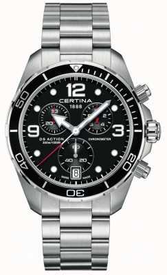 Certina Ds action chrono | cronómetro | pulsera de acero inoxidable C0324341105700