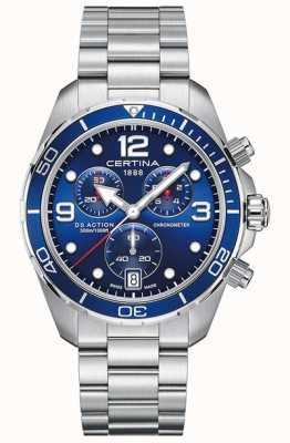 Certina Ds action chrono | cronómetro | pulsera de acero inoxidable C0324341104700
