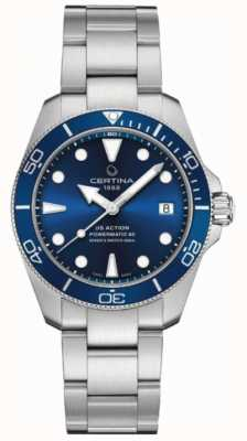 Certina Ds action diver | 38 mm | powermatic 80 | acero inoxidable C0328071104100