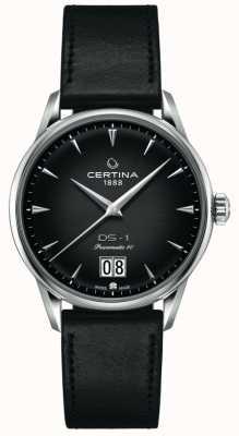Certina Ds-1 gran cita | powermatic 80 | correa de cuero negro C0294261605100