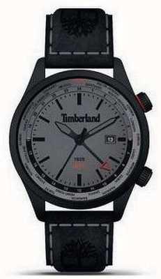 Timberland Hombres | malden | gmt | correa de cuero negro | esfera gris 15942JSB/13