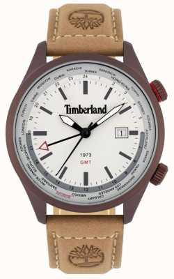 Timberland Hombres | malden | gmt | correa de cuero marrón | esfera crema 15942JSBN/13