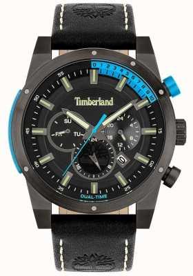 Timberland Hombres | Sherbrook | correa de cuero negro | esfera negra 15951JSU/02