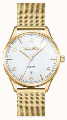 Thomas Sabo El | glam y alma | pulsera de malla dorada para mujer | esfera blanca WA0361-264-202-36