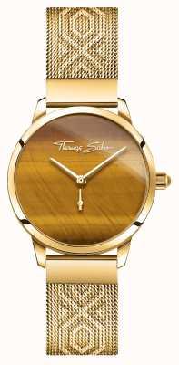 Thomas Sabo El | glam y alma | espíritu de jardín femenino | tigres ojo de oro WA0364-264-205-33