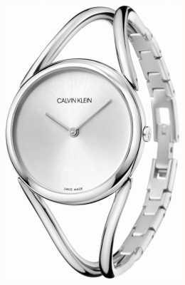 Calvin Klein El | señora | pulsera de acero inoxidable | esfera plateada | KBA23126