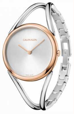 Calvin Klein Señora | pulsera de acero inoxidable | esfera plateada | KBA23626