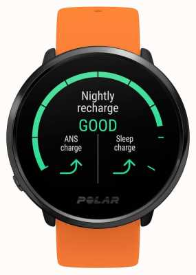 Polar El | encender | correa de caucho naranja | monitor de frecuencia cardíaca gps | m / l 90081718