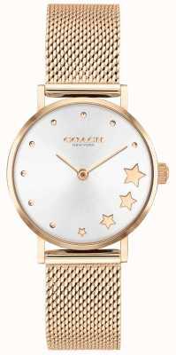 Coach El | perry de mujer | pulsera de malla de oro rosa | esfera plateada | 14503520