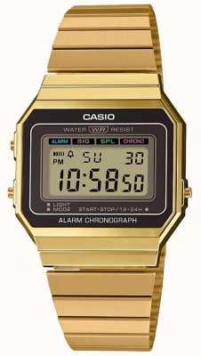 Casio El | colección | pulsera de acero chapado en oro | esfera digital A700WEG-9AEF