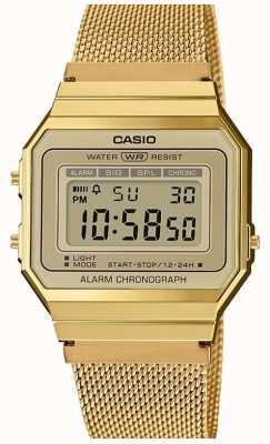 Casio El | colección | pulsera de malla de acero | dial digital A700WEMG-9AEF