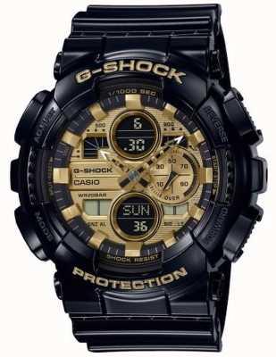 Casio G-shock hora mundial | correa de caucho negro | GA-140GB-1A1ER