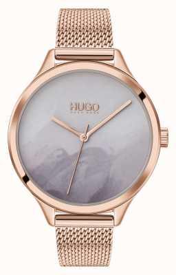 HUGO #smash | esfera de rubor gris | malla de oro rosa 1540060
