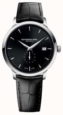 Raymond Weil De mi | toccata | correa de cuero negro | esfera negra 5484-STC-20001