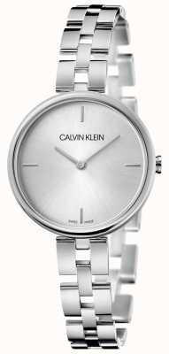 Calvin Klein Elegancia pulsera de acero inoxidable | esfera plateada KBF23146
