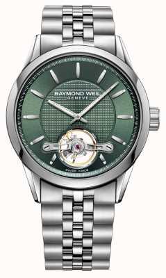 Raymond Weil Hombres | profesional independiente | automático | esfera verde | 2780-ST-52001