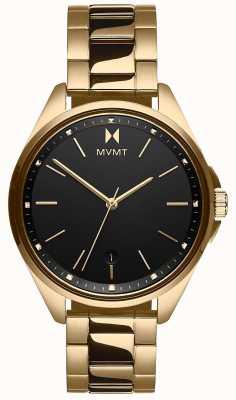 MVMT El | coronada de mujer | pulsera de acero dorado | esfera negra 28000005-D