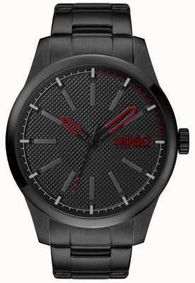 HUGO #invent | pulsera de acero negro | esfera negra 1530148